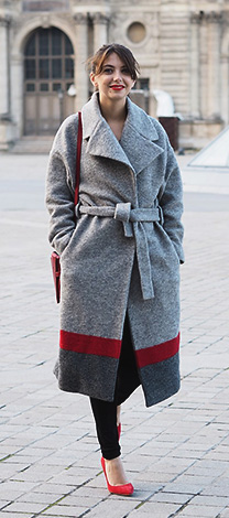 Manteau long IKKS femme