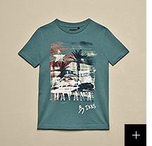 tee-shirt vert garçon