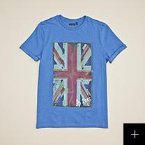 tee-shirt bleu garçon