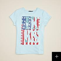 tee-shirt bleu fille