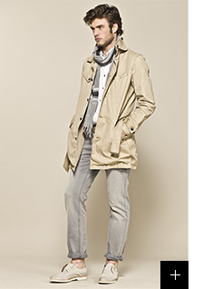 Trench beige homme