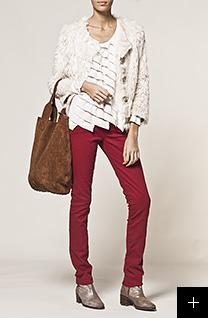 Pantalon rouge femme