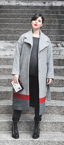 Manteau long gris