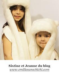Sixtine et Jeanne du blog Emilie sans chichi