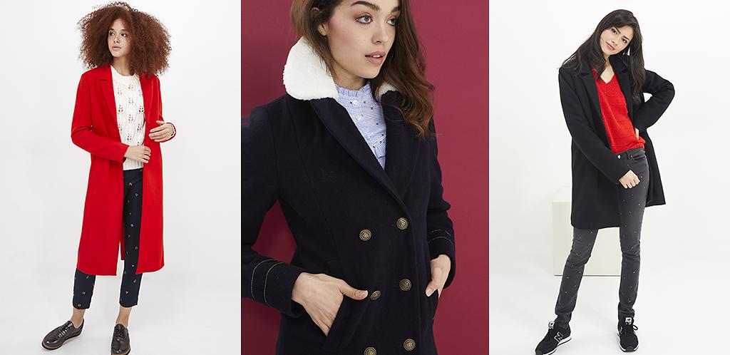 Manteau femme forme droite